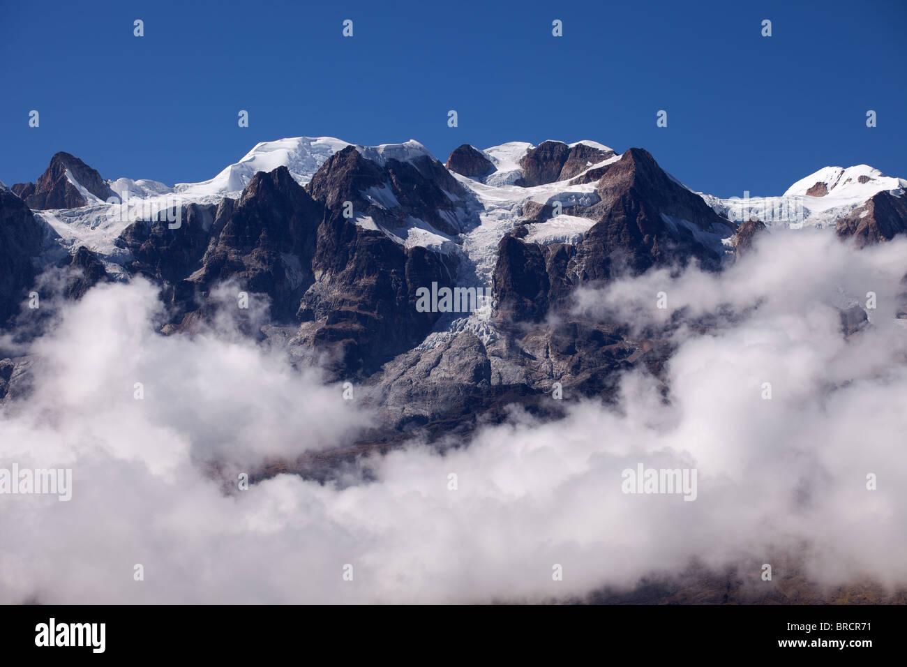 Cordillera Real: Illampu Mountain - Stock Image