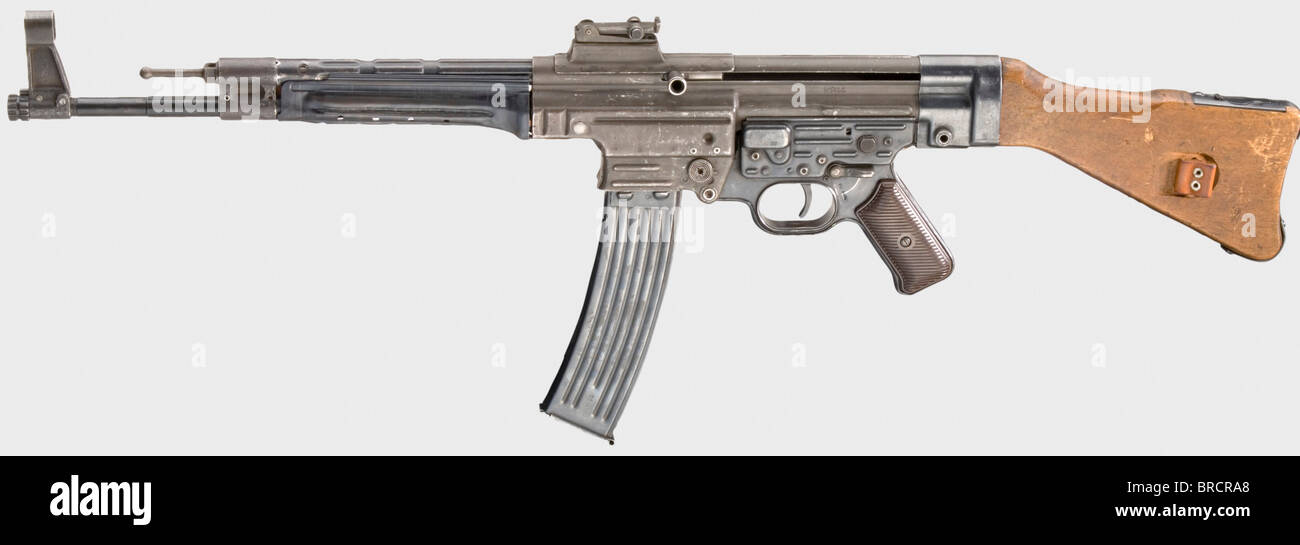 A Sturmgewehr / assault rifle mod. 44 (MP 44 or StG 44), code 'wj 45', calibre 8 x 33, no. 4635. Matching - Stock Image