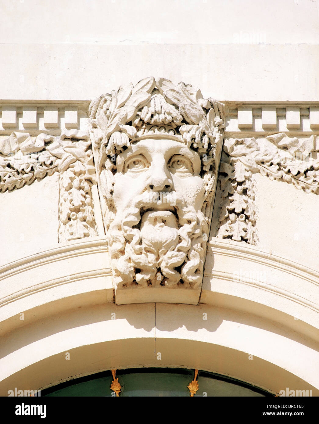 Custom House, Dublin, Co Dublin, Ireland; River Gods Of Ireland On 18Th Century Building Designed By James Gandon - Stock Image