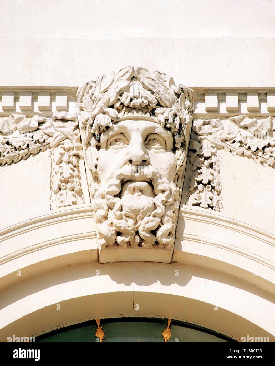Custom House, Dublin, Co Dublin, Ireland; River Gods Of Ireland On 18Th Century Building Designed By James Gandon Stock Photo