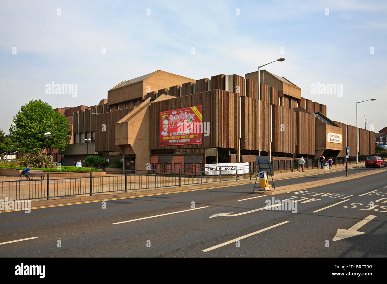 (Now demolished) Central Library & Arts Centre, Rotherham, South Yorkshire, England, UK. - Stock Image