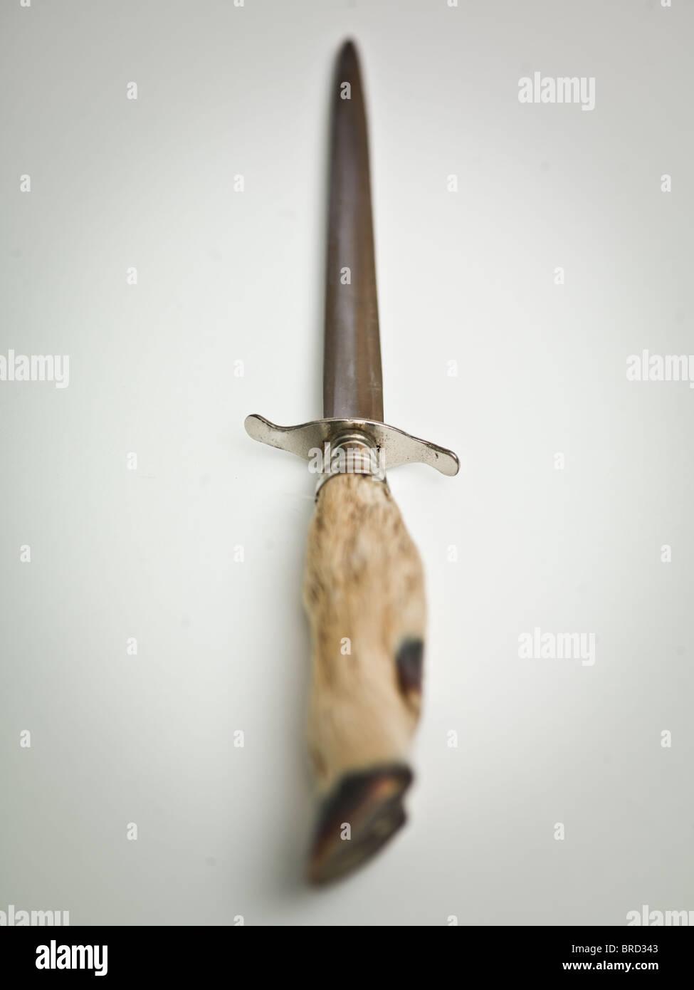 Goats hoof letter opener - Stock Image