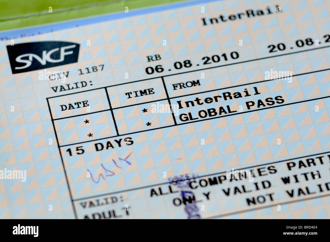 Interrail ticket