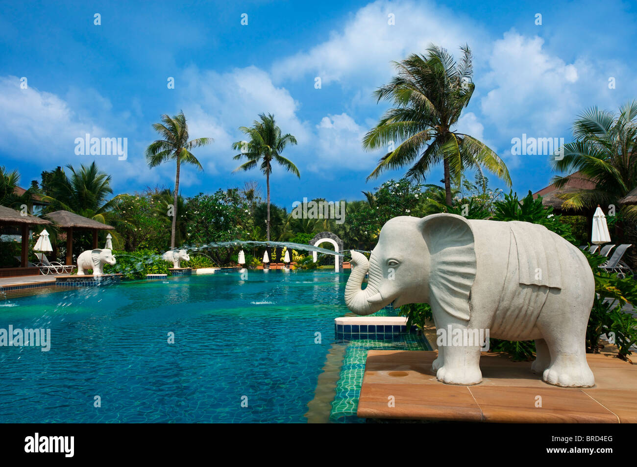 Swimming Pool des Bandara Resort am Mae Nam beach, Ko Samui, Thailand - Stock Image
