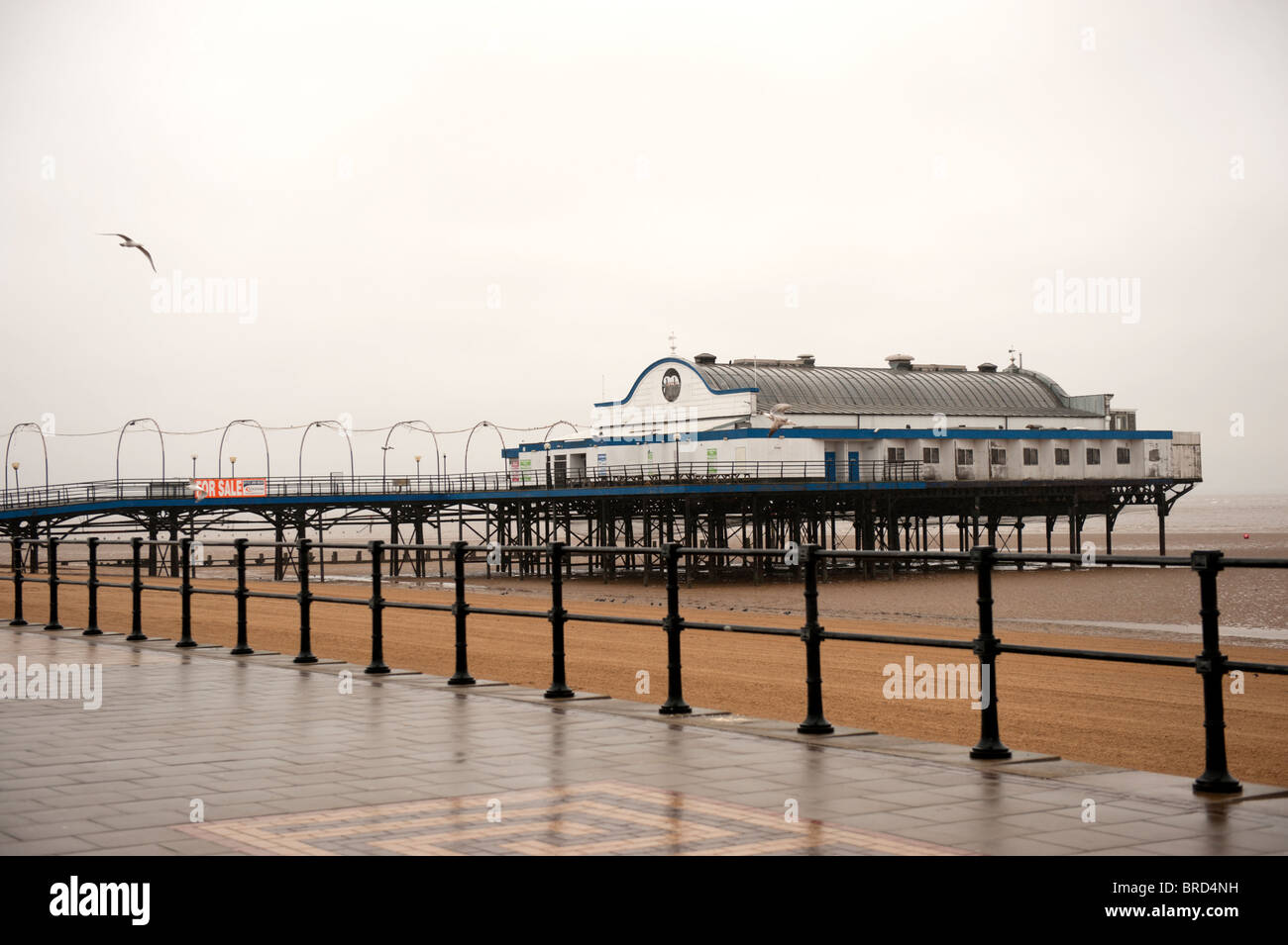 The Pier Cleethorpes Lincolnshire UK - Stock Image