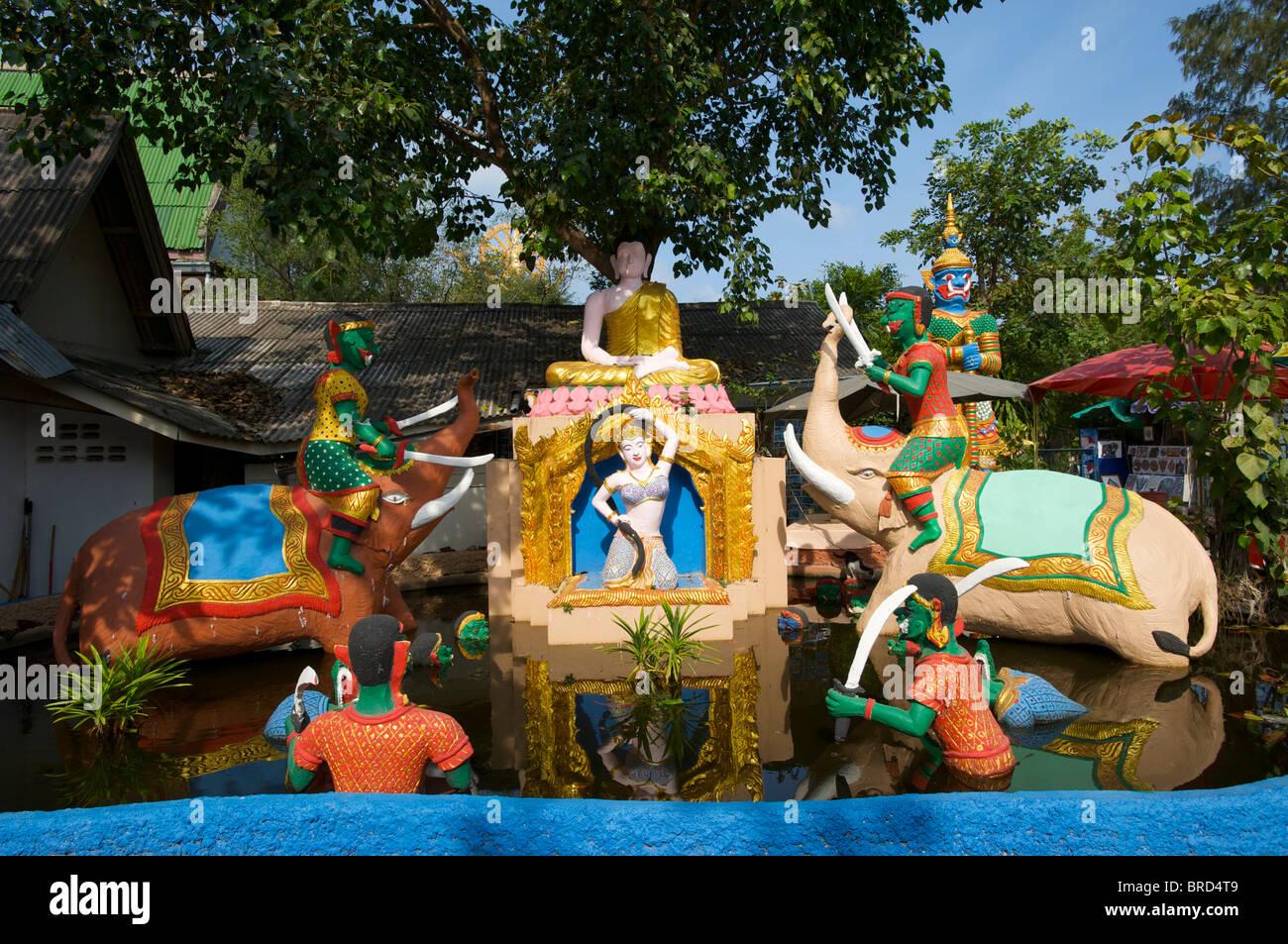 Temple in Bo Phut, Ko Samui Island, Thailand Stock Photo