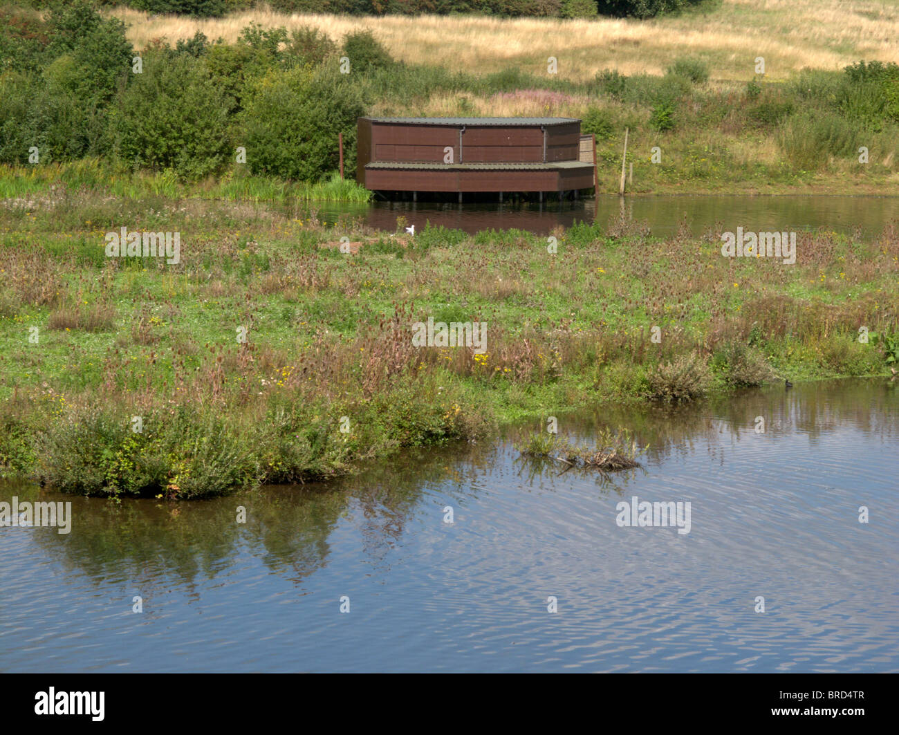 Sandwell Valley RSPB reserve, hide, Midlands, September 2010 - Stock Image
