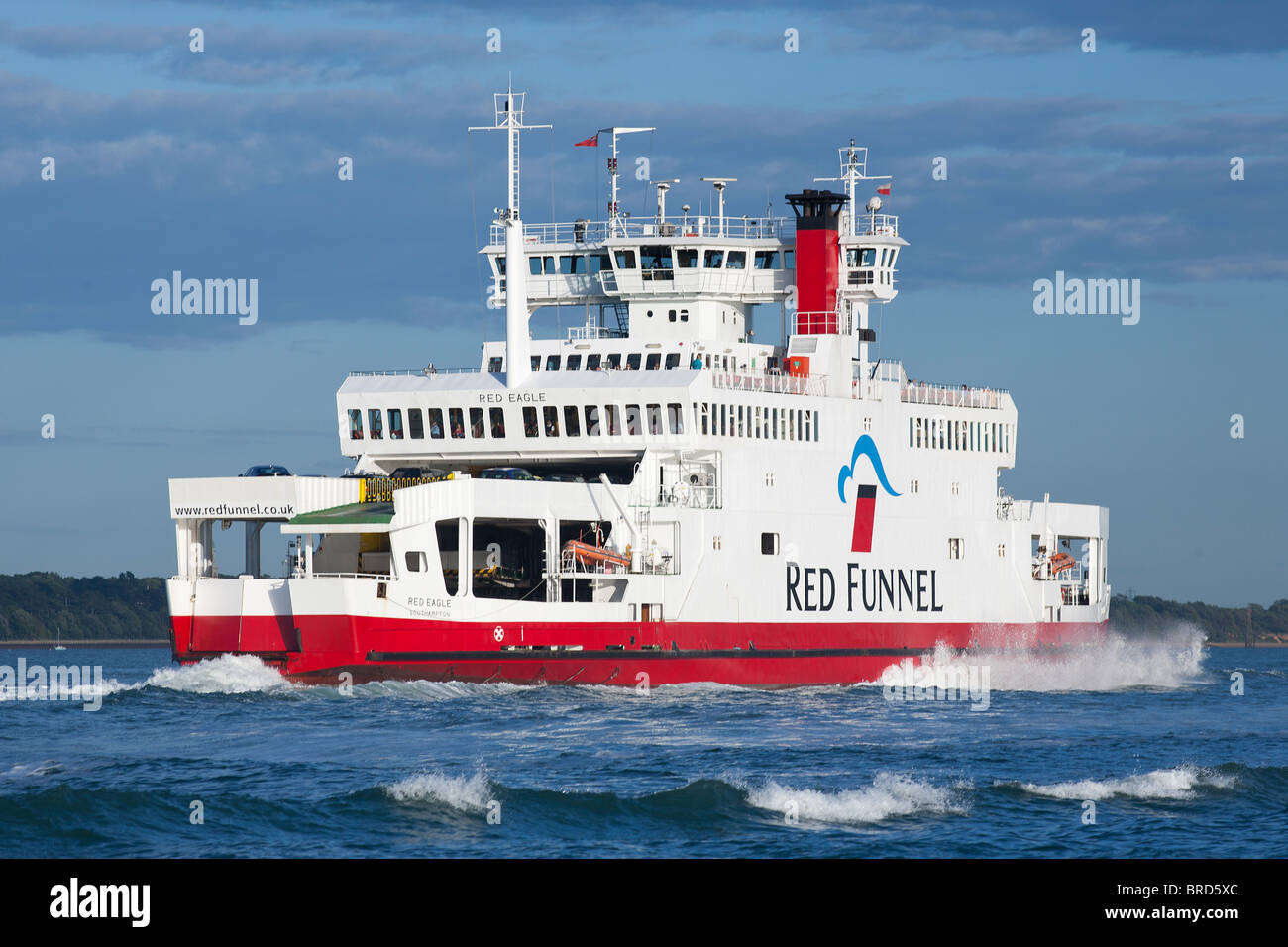 Isle of Wight Cowes Ferry Red Funnel - Stock Image