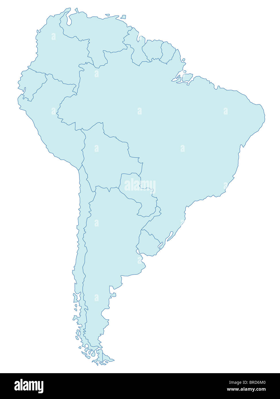 Argentina map stock photos argentina map stock images alamy stylized map of south america in blue tone all on white background stock gumiabroncs Gallery