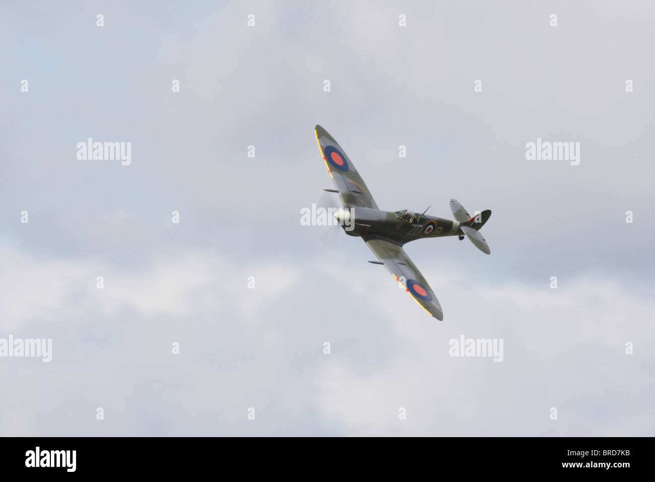 Supermarine Spitfire displaying at Goodwood 2010 - Stock Image