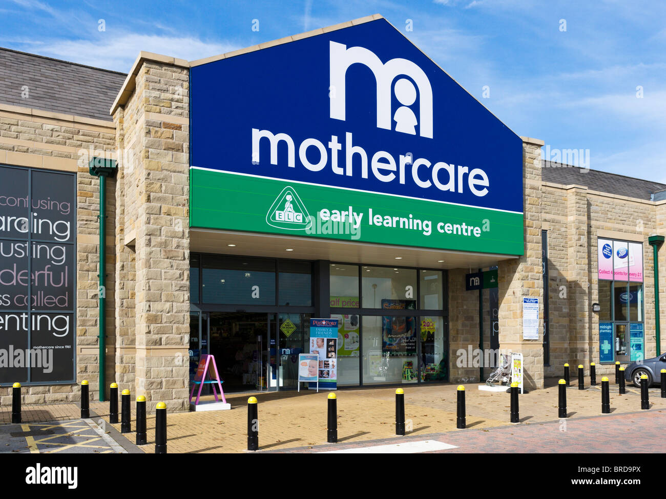 Mothercare and Early Learning Centre superstore, Great Northern Retail Park, Leeds Road, Huddersfield, West Yorkshire, - Stock Image