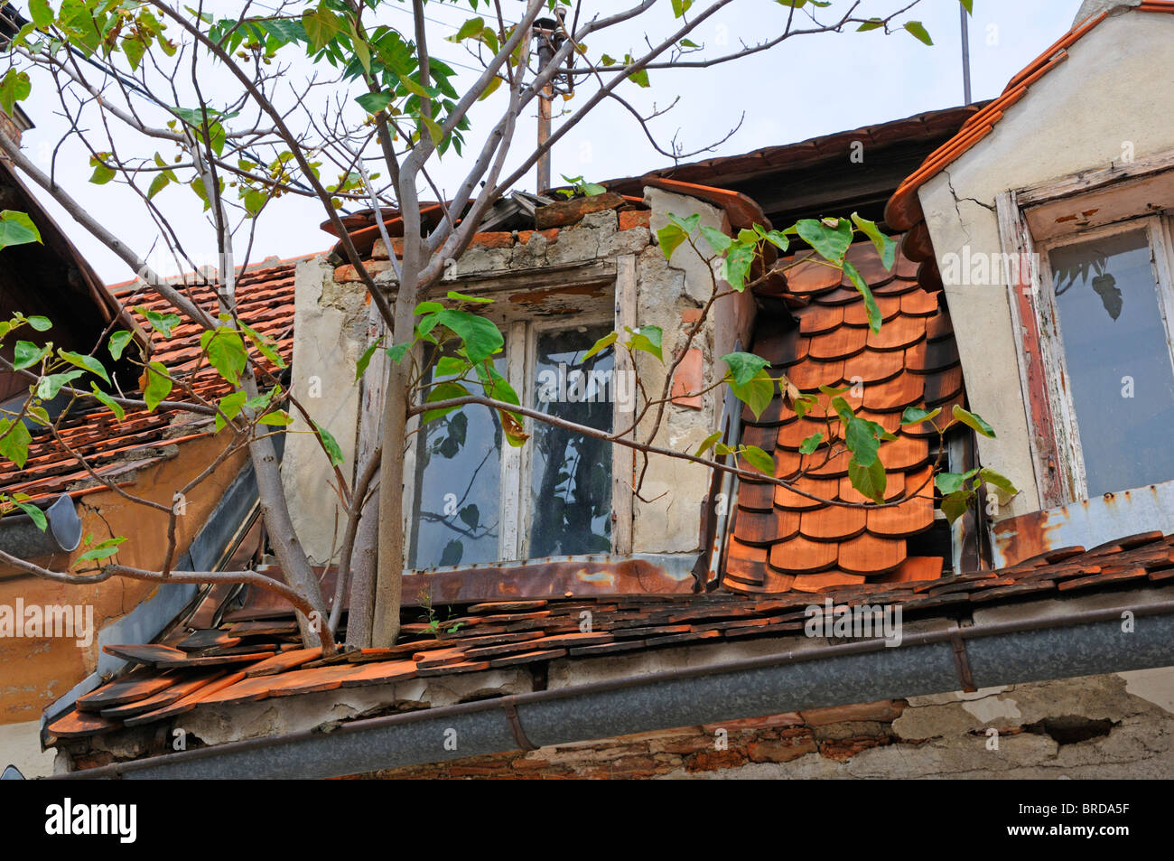 Roof Damaged Stock Photos Amp Roof Damaged Stock Images Alamy