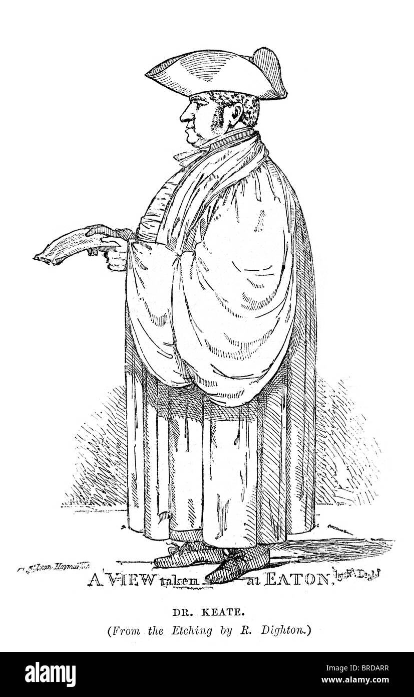 John Keate (1773 – 5 March 1852) was an English schoolmaster, one of the most famous headmasters in the history - Stock Image