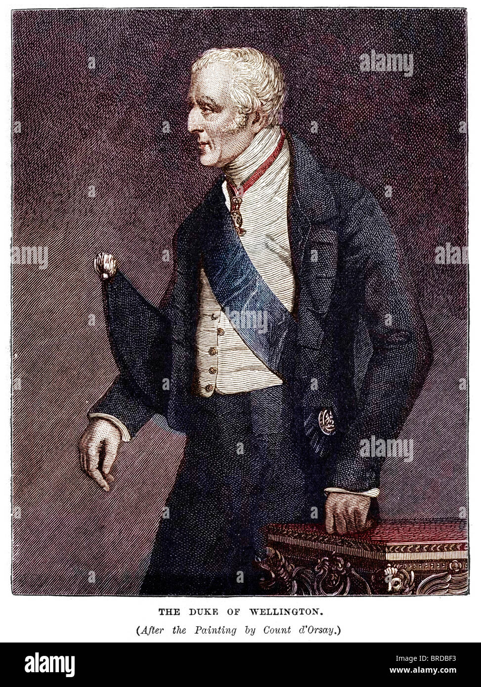 Field Marshal Arthur Wellesley, 1st Duke of Wellington, (1769 to 1852), was an Anglo-Irish soldier - Stock Image