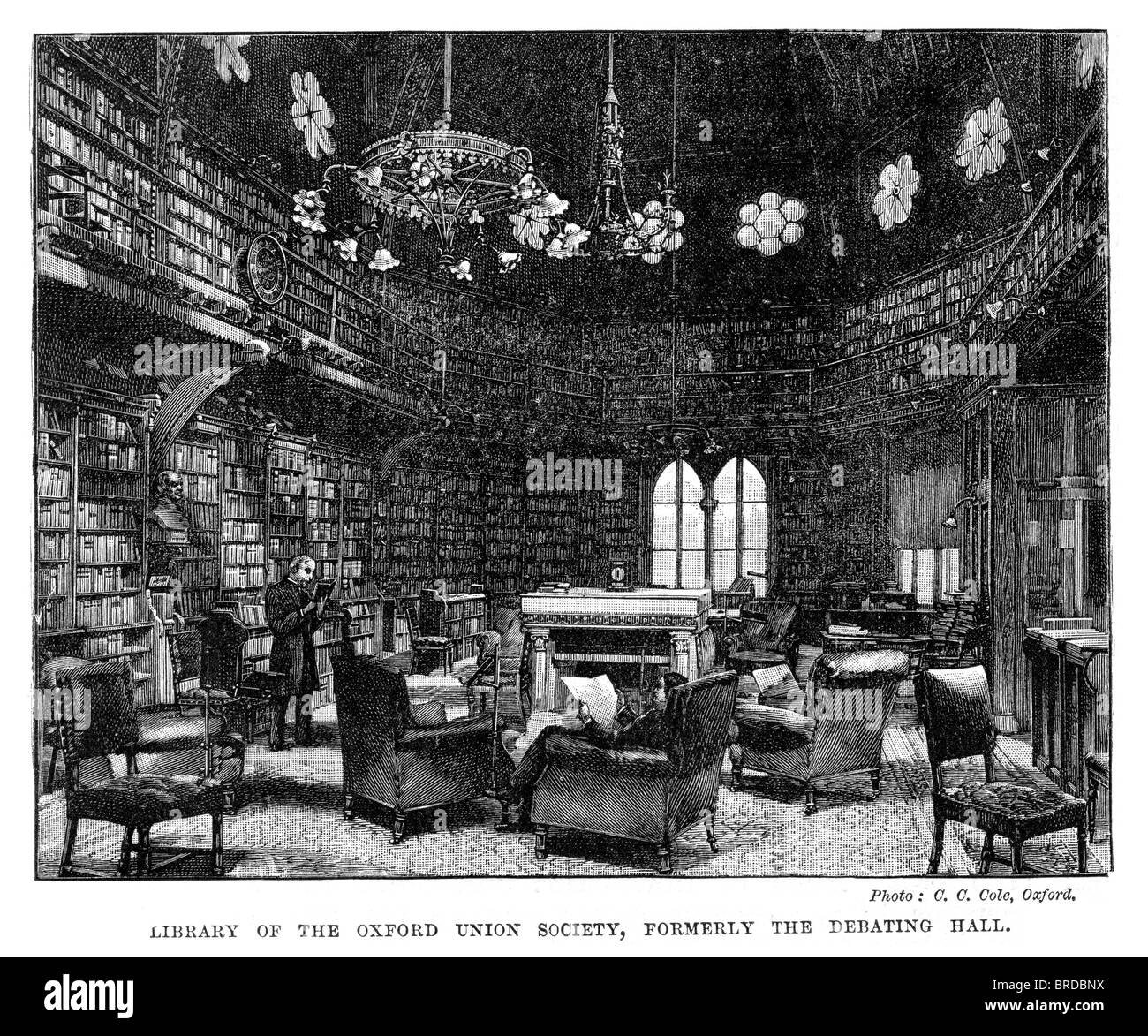 Library of the Oxford Union Society, formerly the Debating Hall. Oxford University. - Stock Image