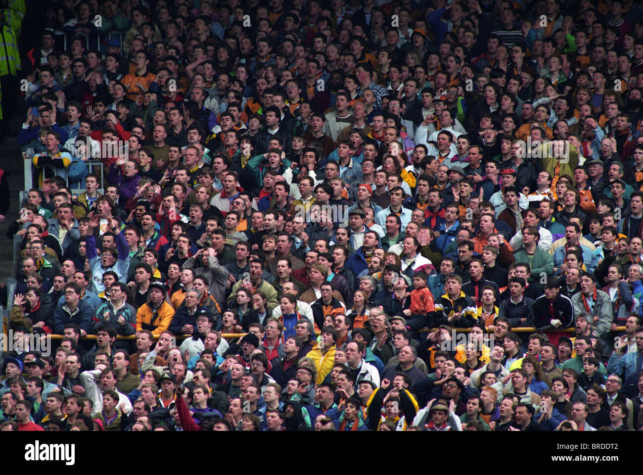 Wolves Fans In The South Bank At Molineux 18 3 92