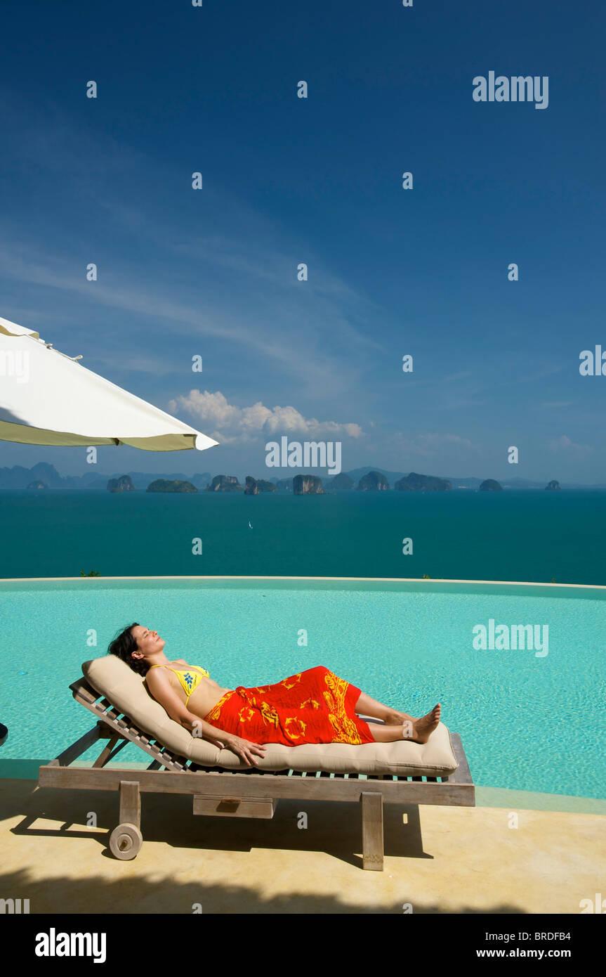 Evason Six Senes Hideaway, Luxury Hotel on Yao Noi Island, Phuket, Thailand - Stock Image