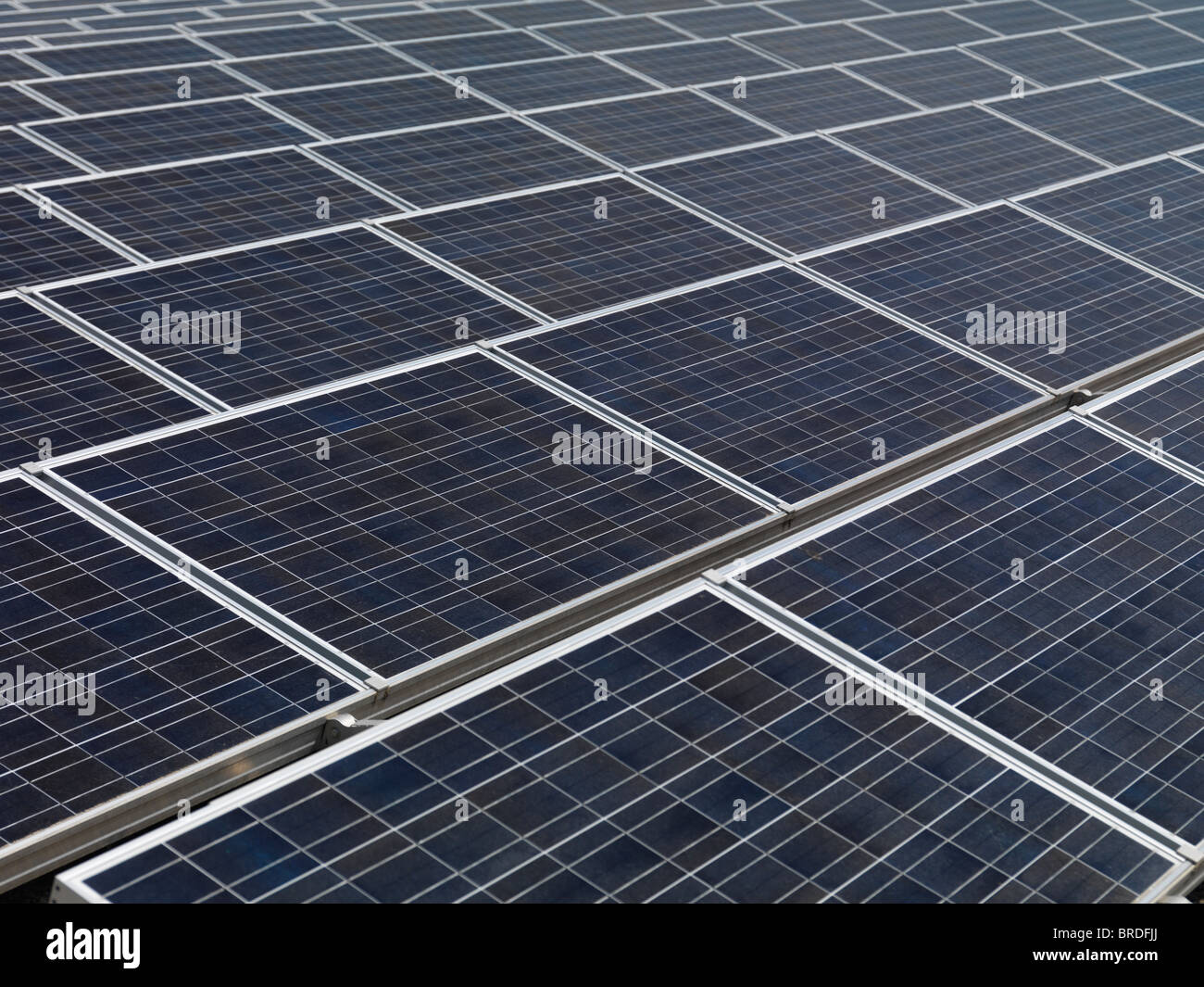 Large array of photovoltaic solar panels - Stock Image