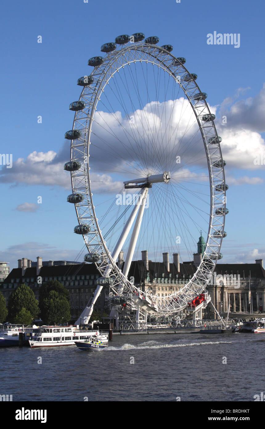 London Eye South Bank London Stock Photo