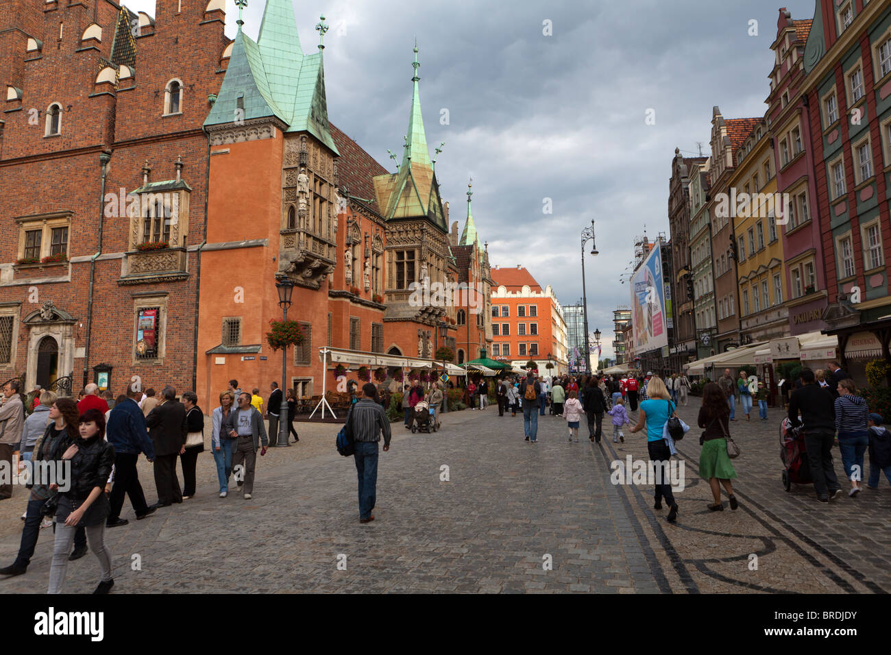 Poland. Wroclaw (formerly Breslau). 14th C Gothic Town Hall. - Stock Image
