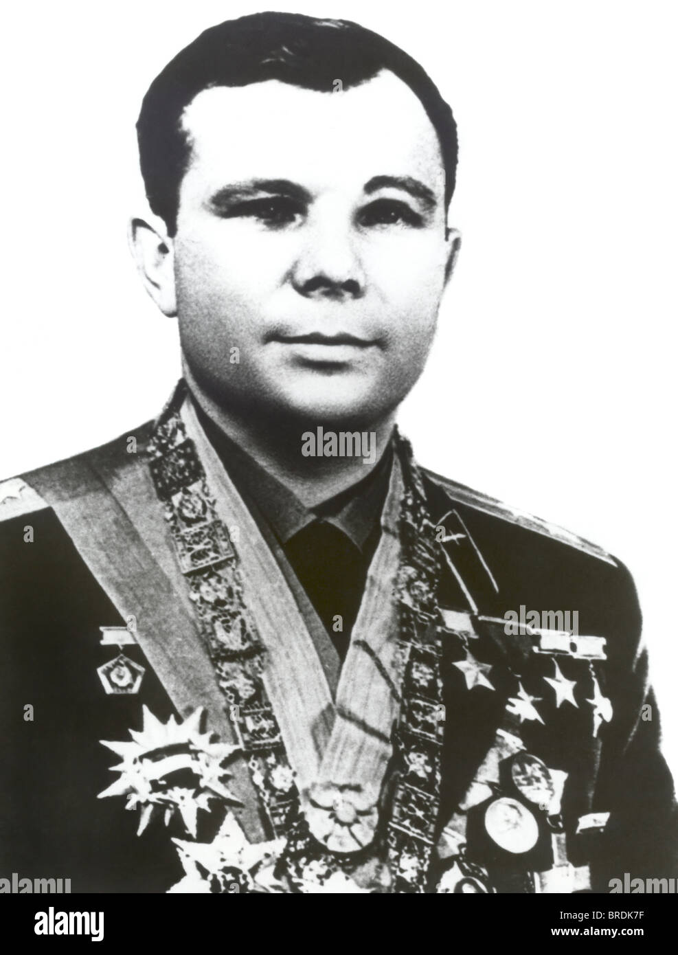 Yuri Gagarin, Yuri Alekseyevich Gagarin, Soviet cosmonaut and first human in space. - Stock Image
