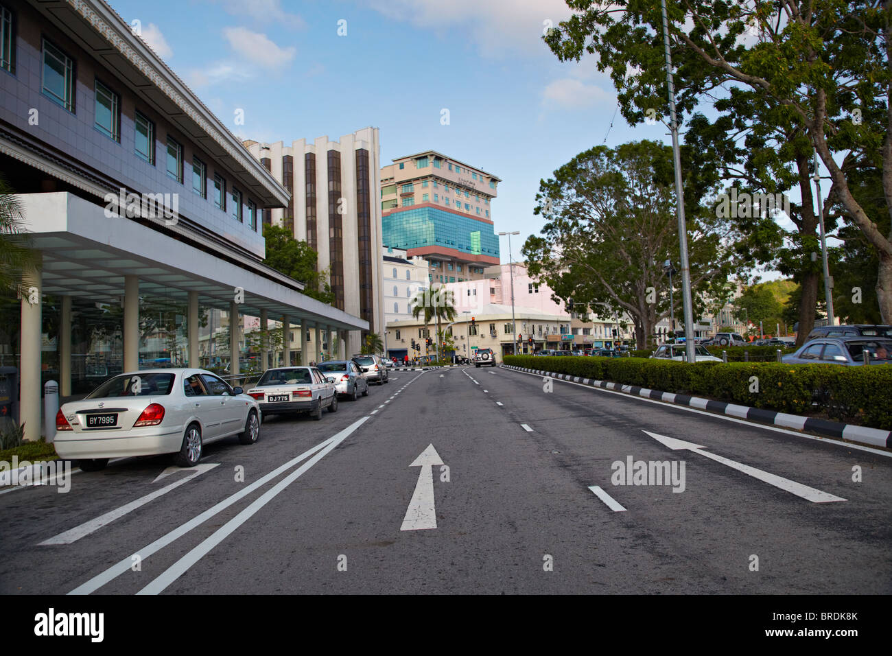 Jalan Mac Arthur, Bandar Seri Begawan, Brunei - Stock Image