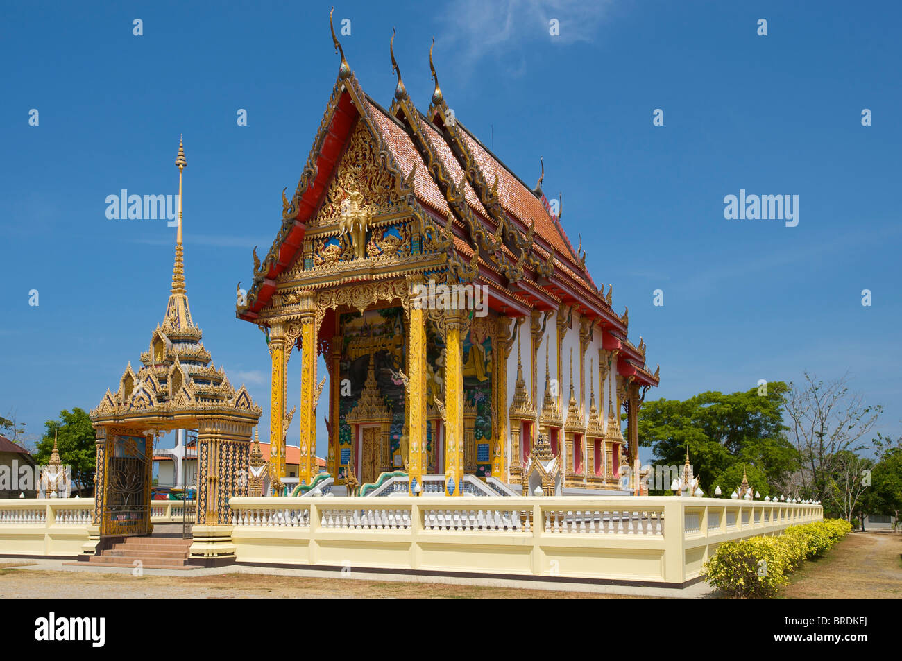 Temple nearby Thalang, Choeng Thale, Phuket, Thailand Stock Photo