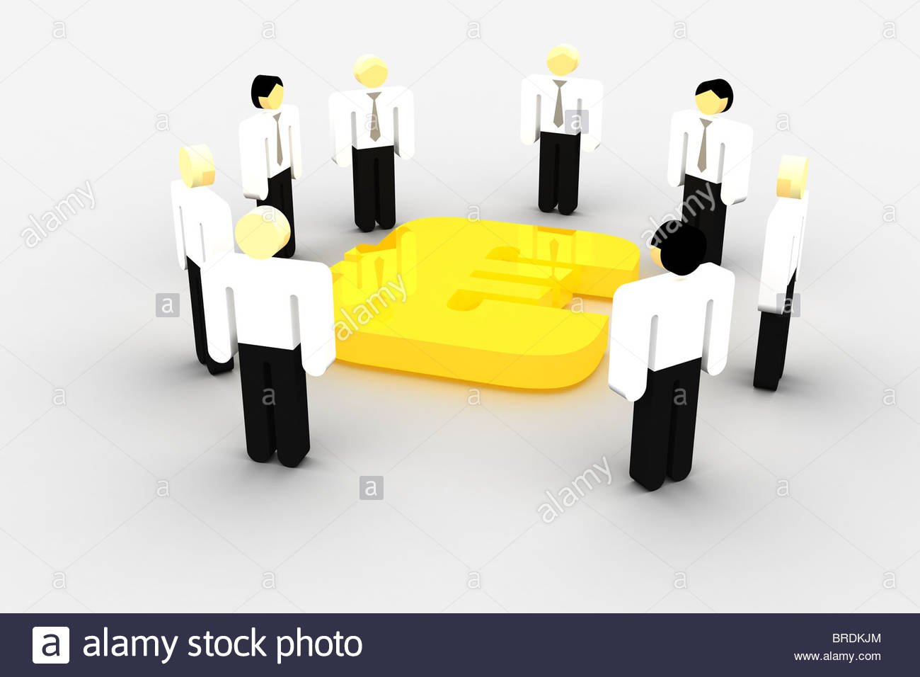 Golden U.S. dollars business symbol Stock Photo