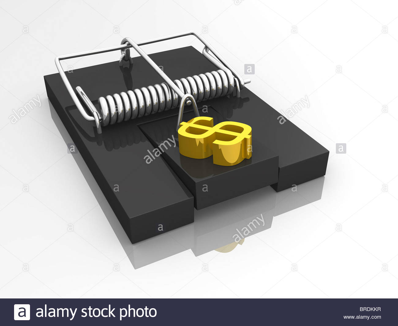 dept trap icon - Stock Image