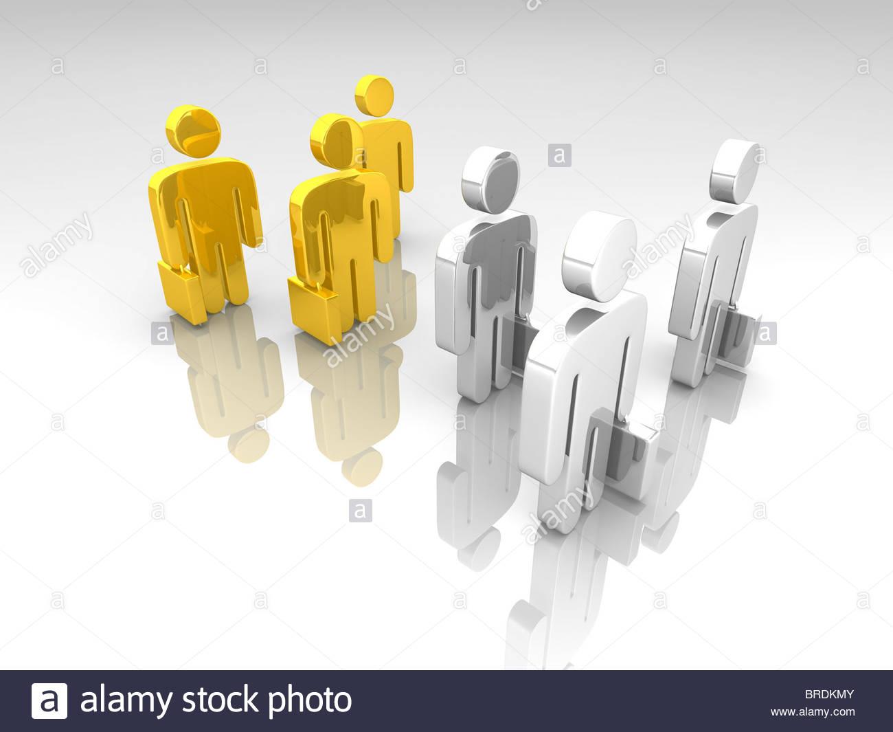 negotiations Symbol - Stock Image