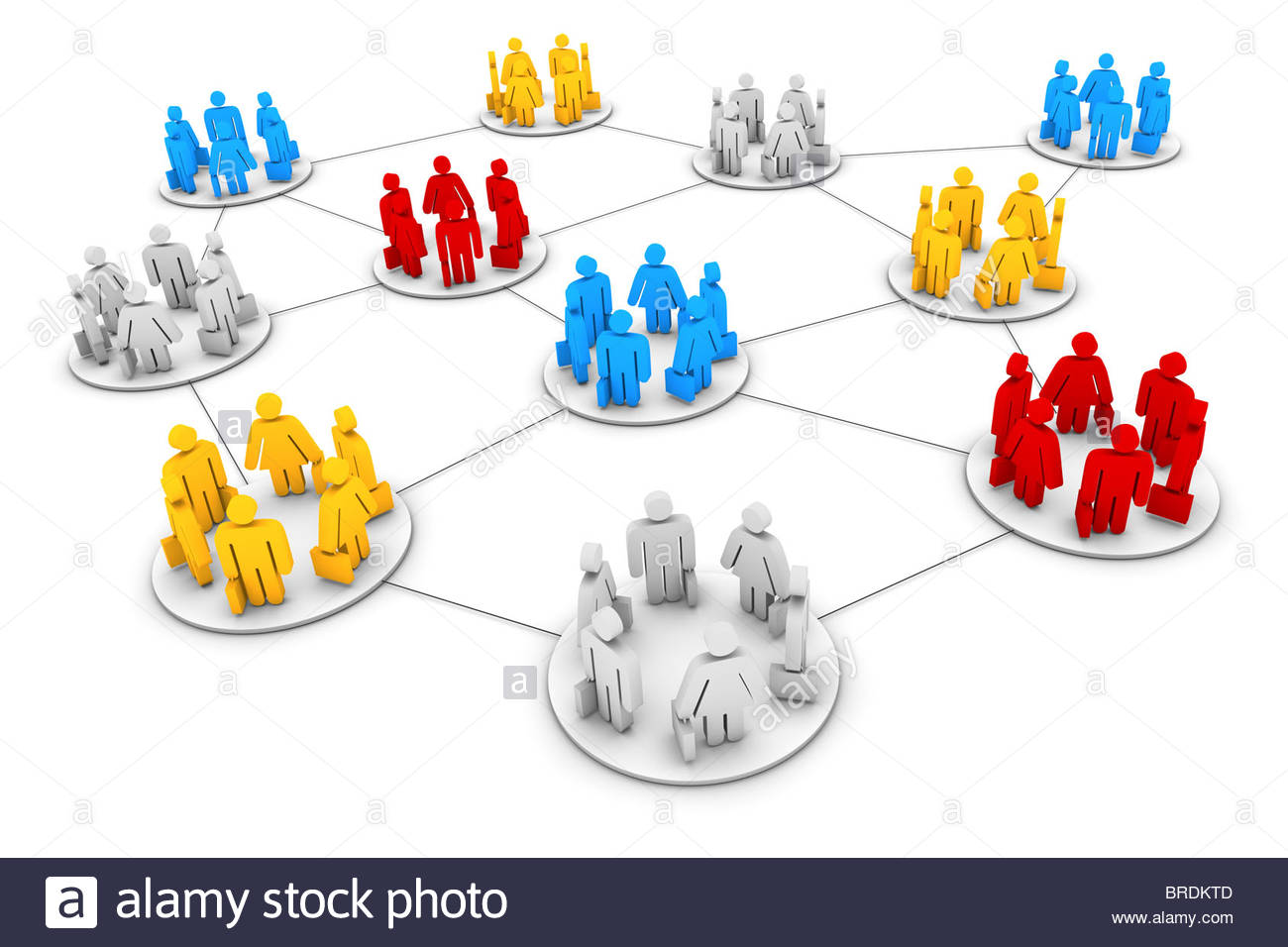 Business Network - Stock Image