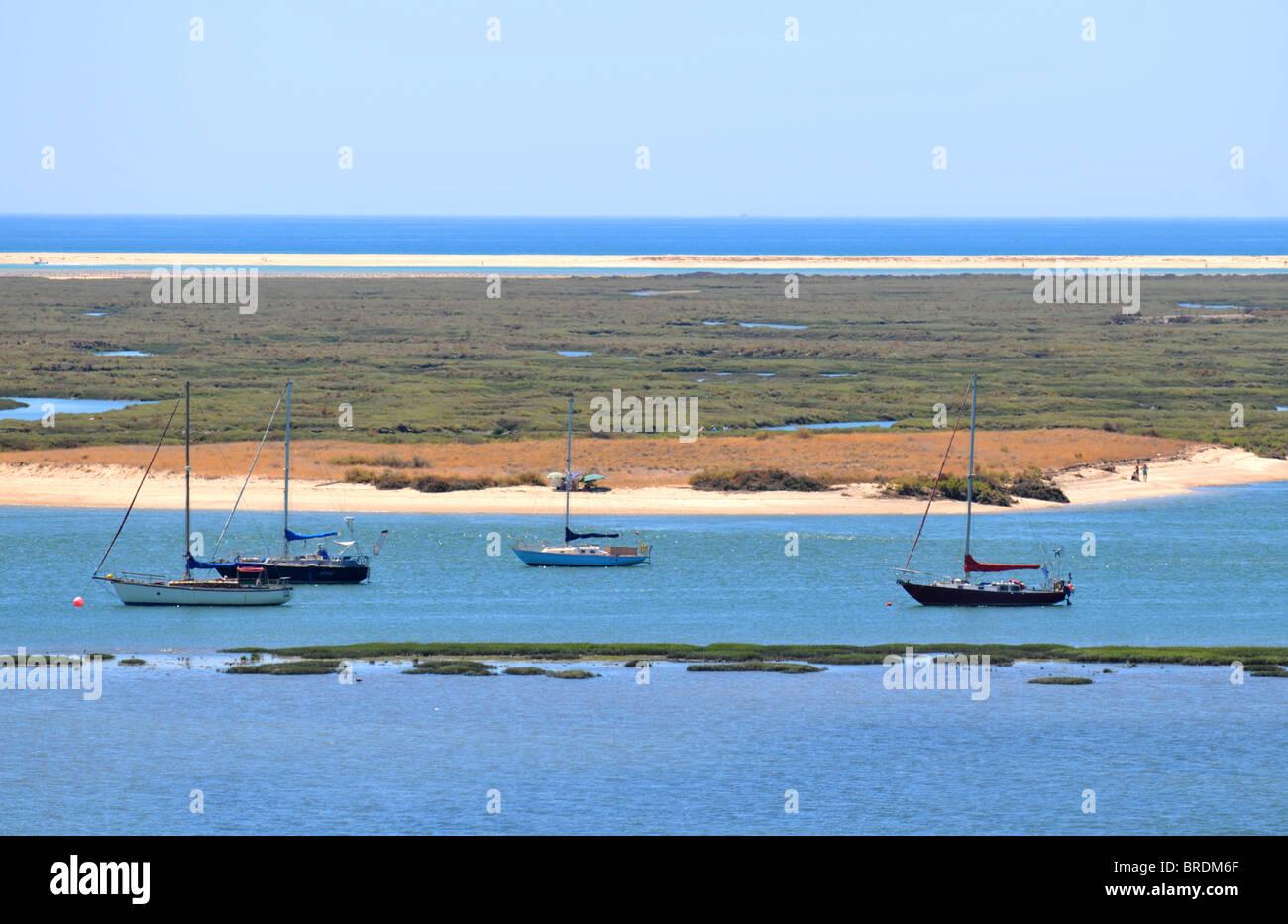 Coastline at Faro, The Algarve, Portugal - Stock Image