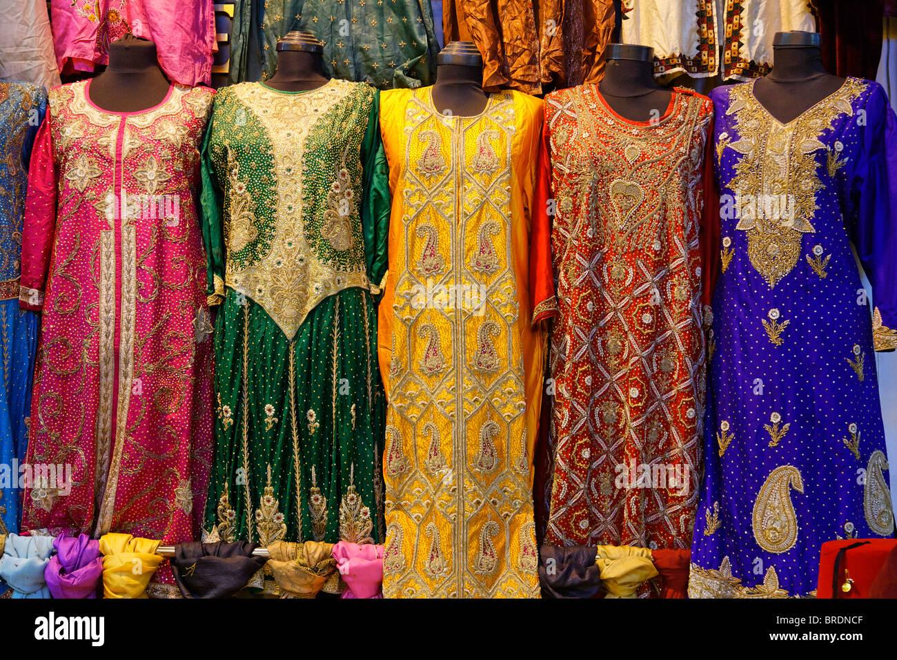 Shop display of dresses inside the Grand Bazaar, Istanbul ...