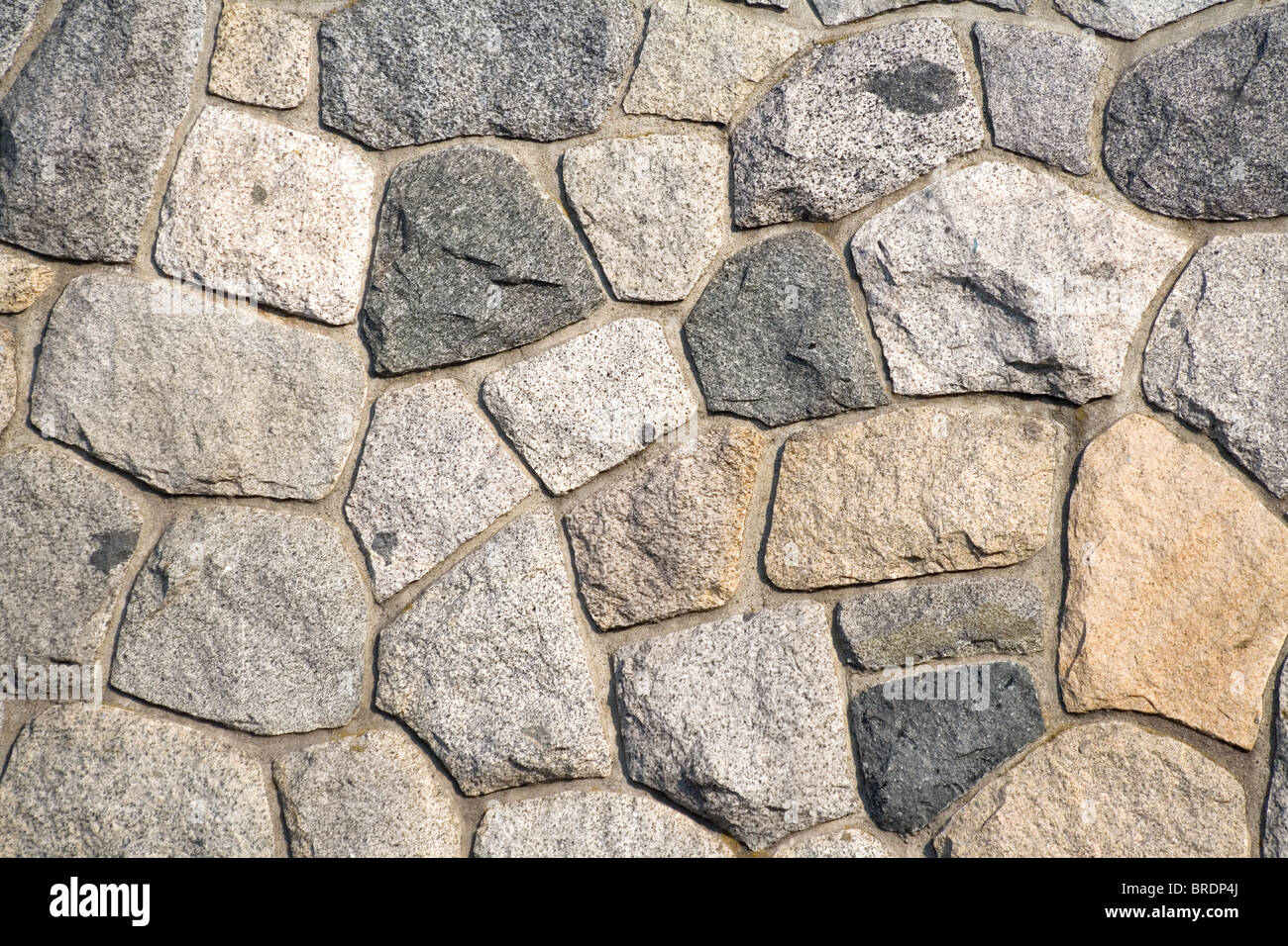 rock wall pattern for background - Stock Image