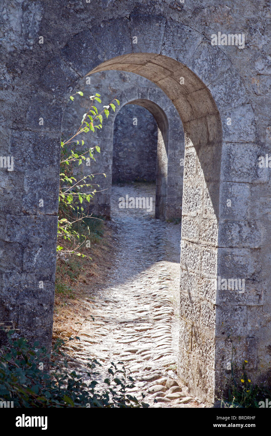 concentric tunnels - Stock Image