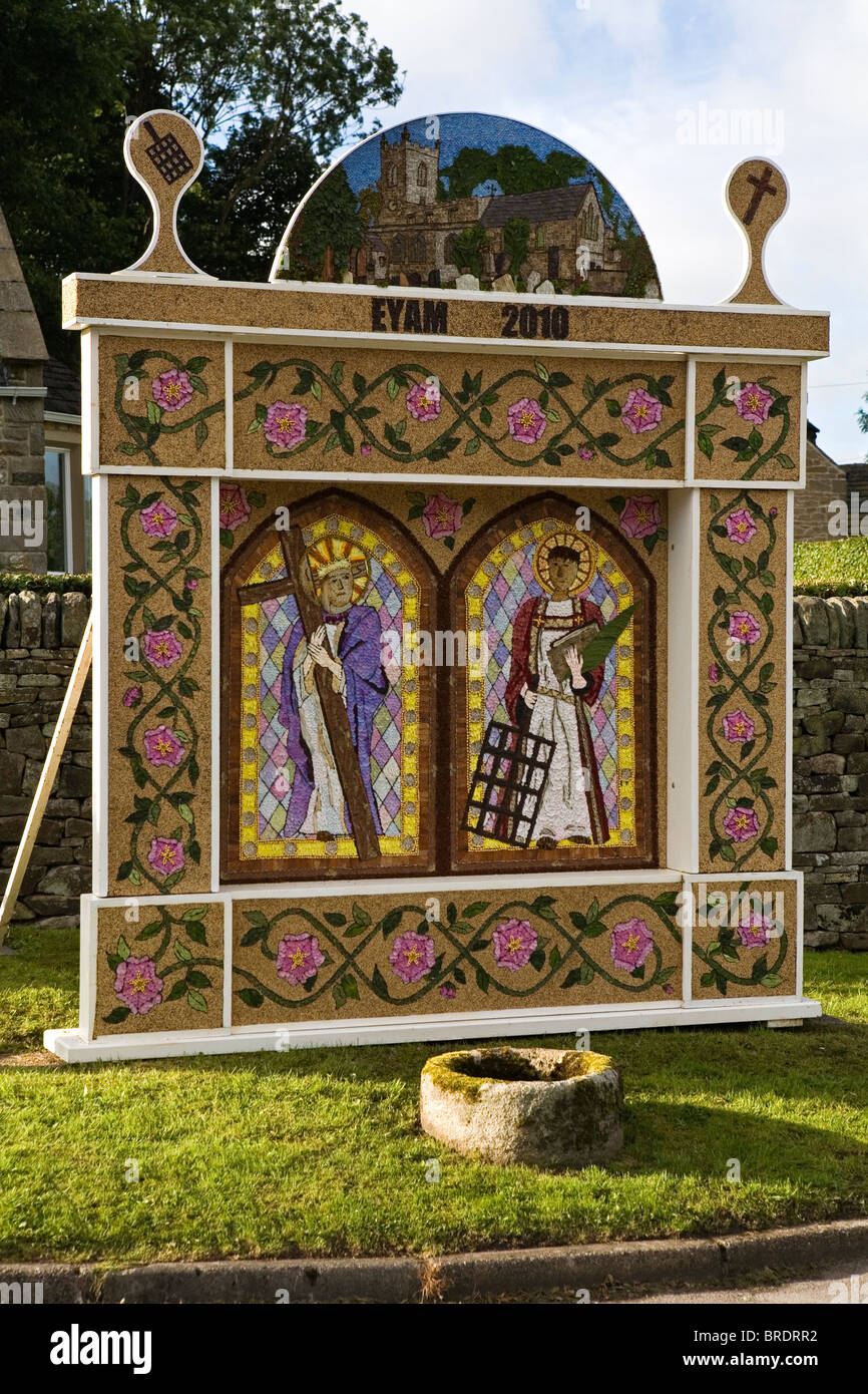 Well Dressing, Eyam, Derbyshire, England, UK - Stock Image