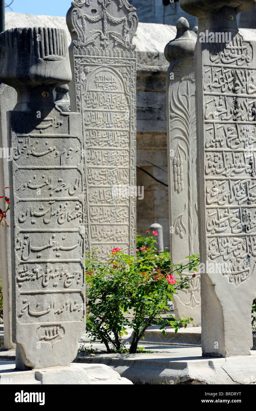 The turbe garden of Beyazit Camii in Istanbul Stock Photo