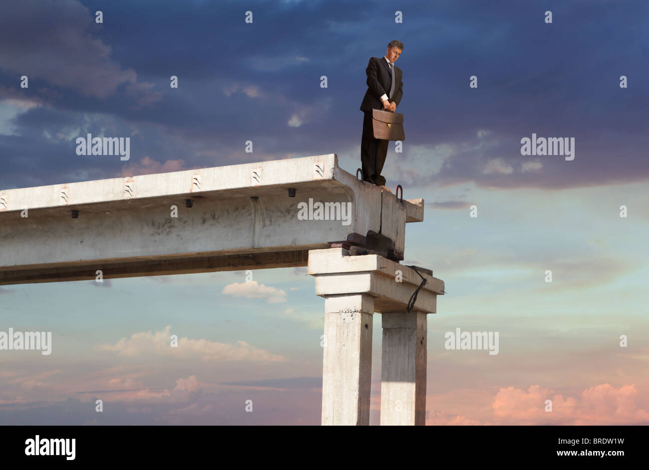 Financial crisis. Business concept - Stock Image