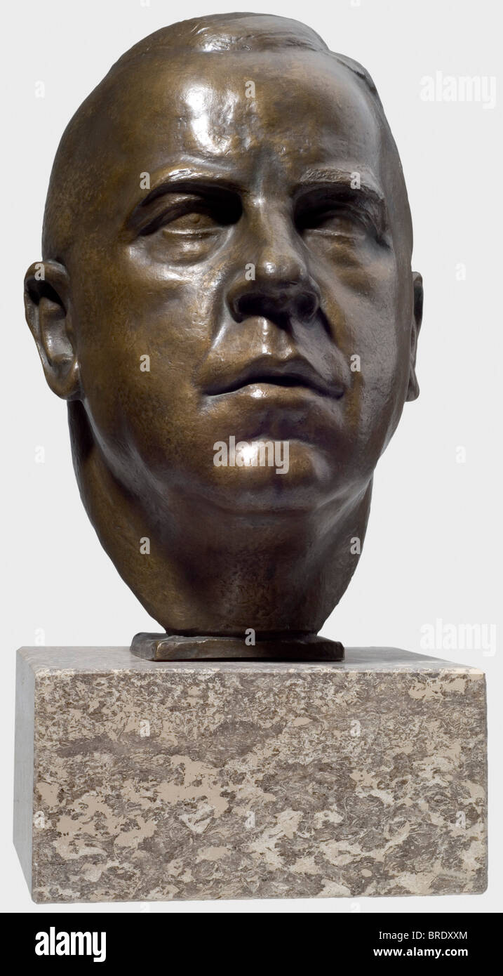 Ferdinand Liebermann (1883 - 1941), a bronze head - Max Amann Expressive portrayal of the President of the Reich - Stock Image