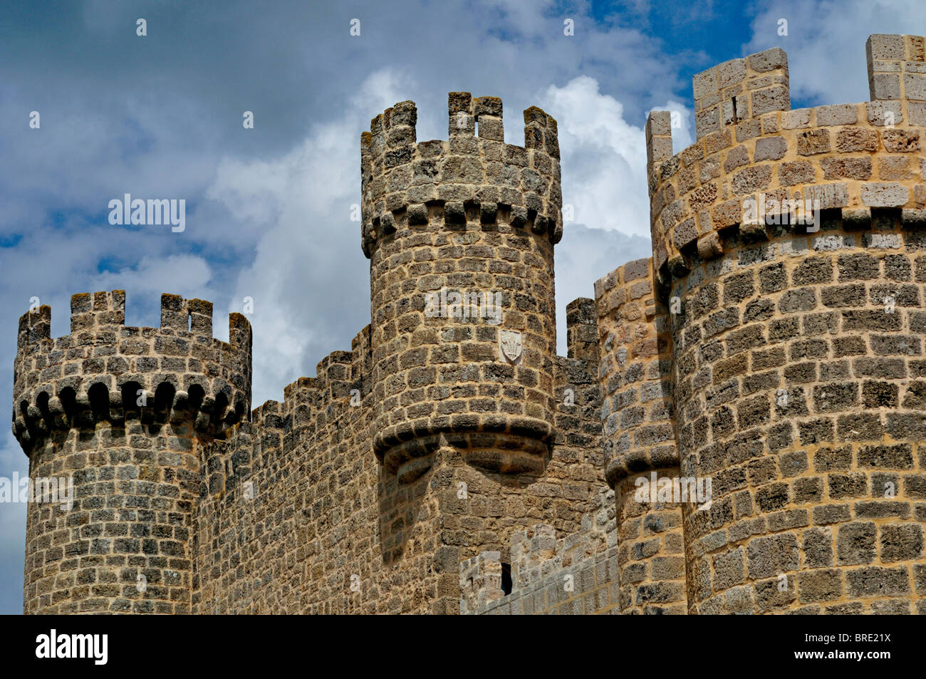 Spain, St. James Way: Hotel and castle 'Senorio de Olmillos' in Olmillos de Sesamón - Stock Image