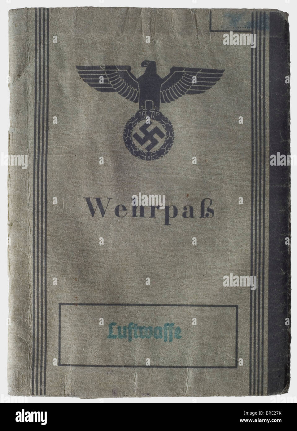 A service record of Generalmajor Herwarth von Bittenfeld, as a Private First Class for front service with Flak Detachment - Stock Image