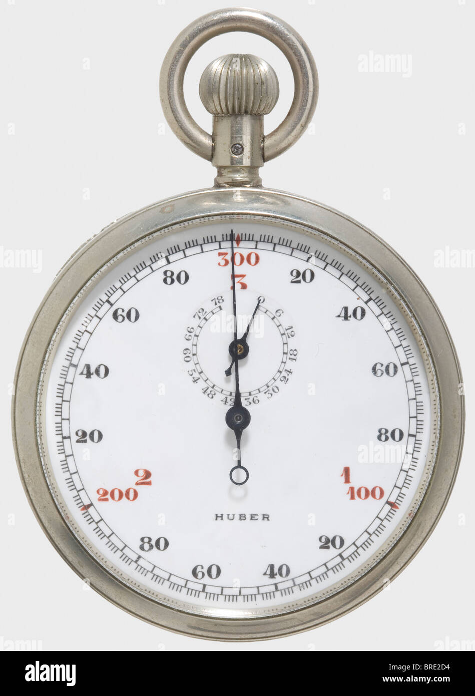A German navy stop watch, for the measurement of sound travel time Precision stopwatch made by Andreas Huber, Munich - Stock Image