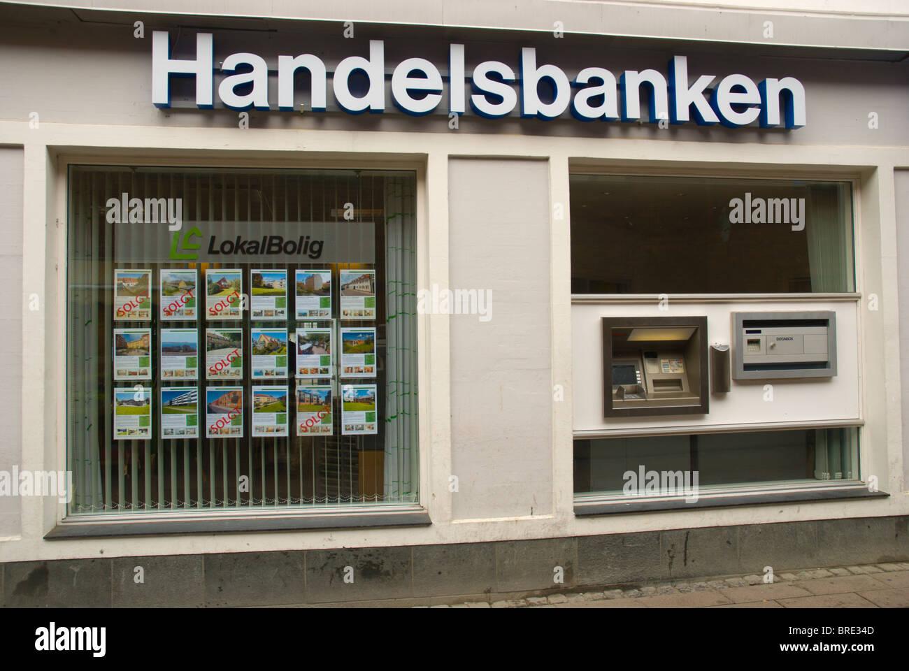 Handelsbanken bank branch Helsingor north Sjaelland Denmark Europe - Stock Image