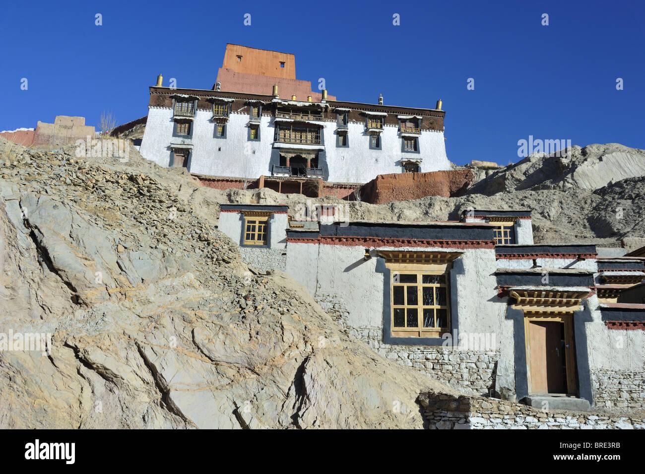 Monks Quarters Palcho Monastery, Gyantse, Tibet. Stock Photo