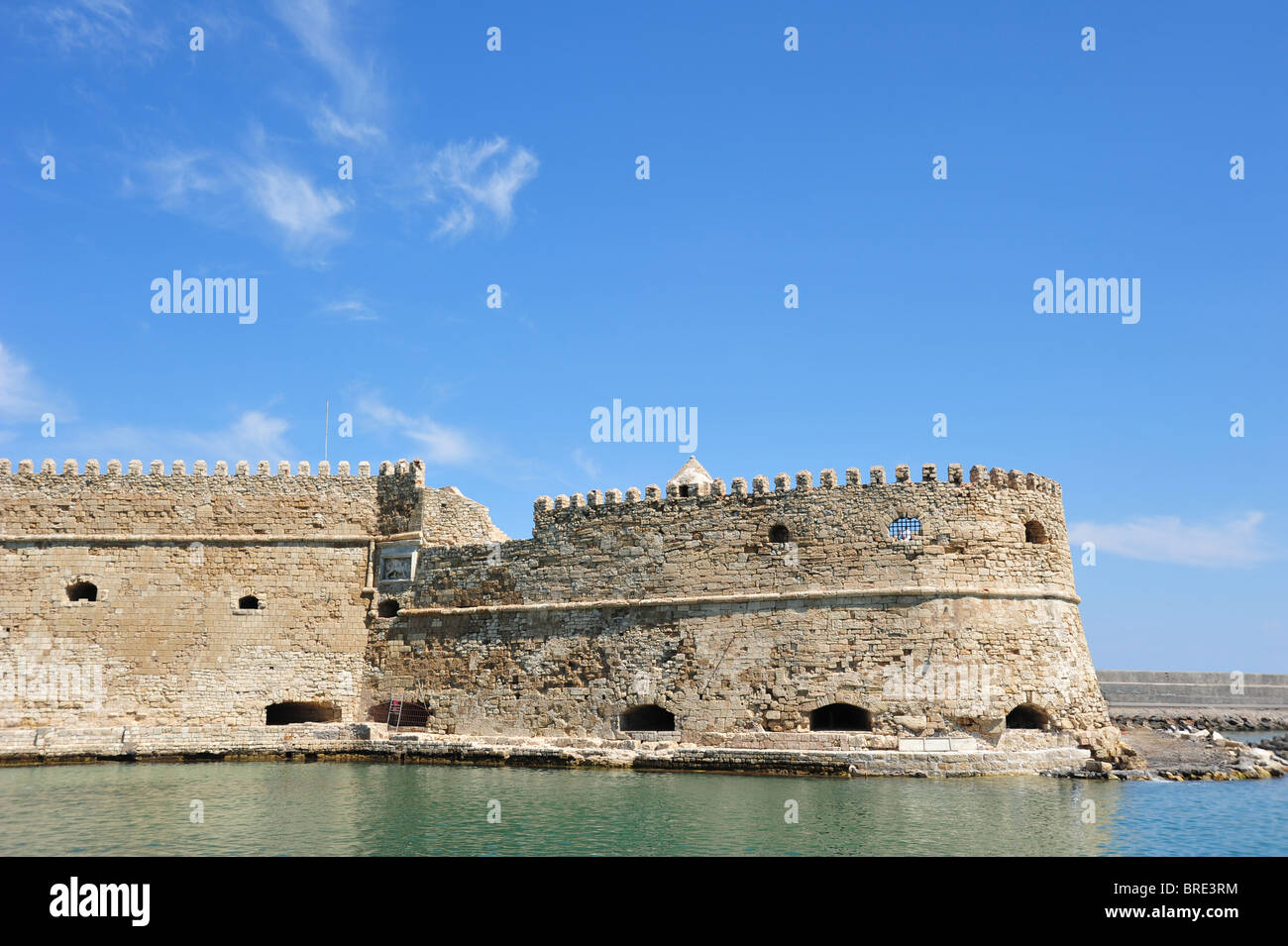The restored Koules Fort in the old Venetian harbour of Heraklion, Crete, Greece - Stock Image