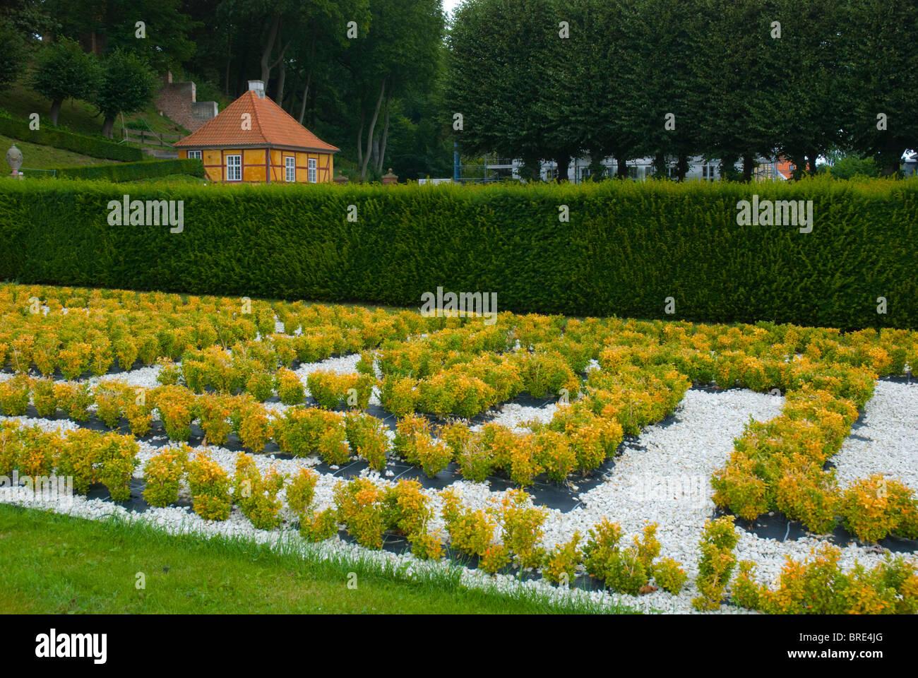 Marienlyst park central Helsingor north Sjaelland Denmark Europe - Stock Image