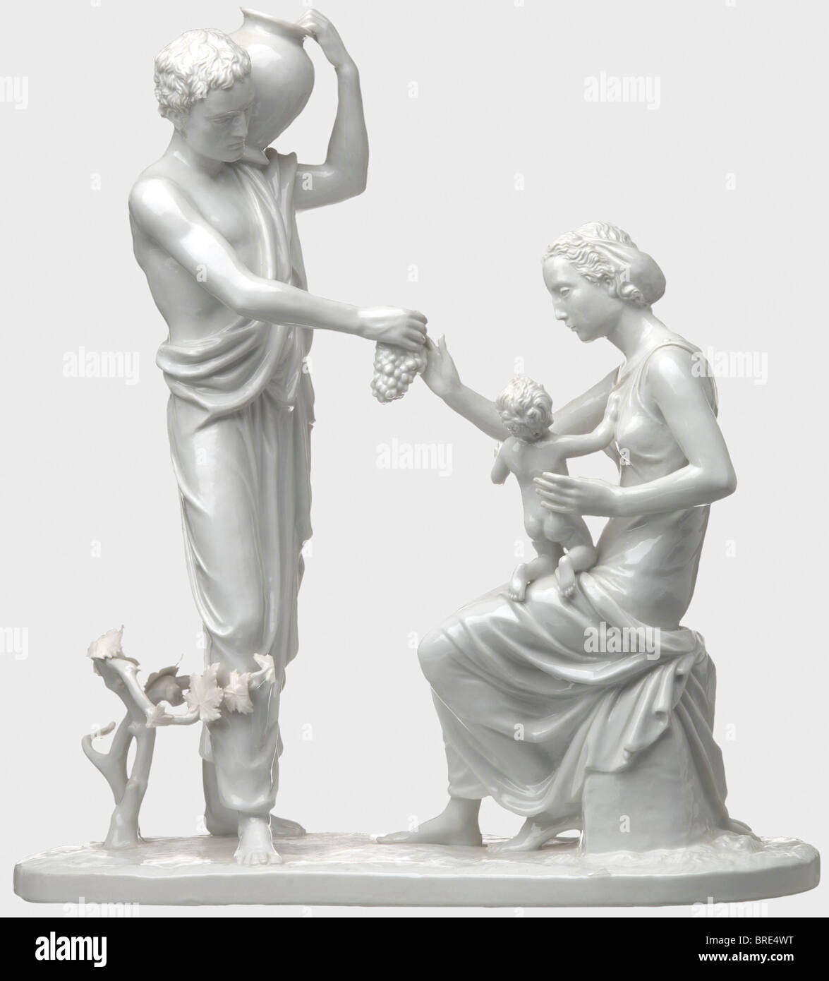 Roland von Bohr - the centrepiece 'Autumn', for the Reich Foreign Ministry Group of figures made of white, - Stock Image