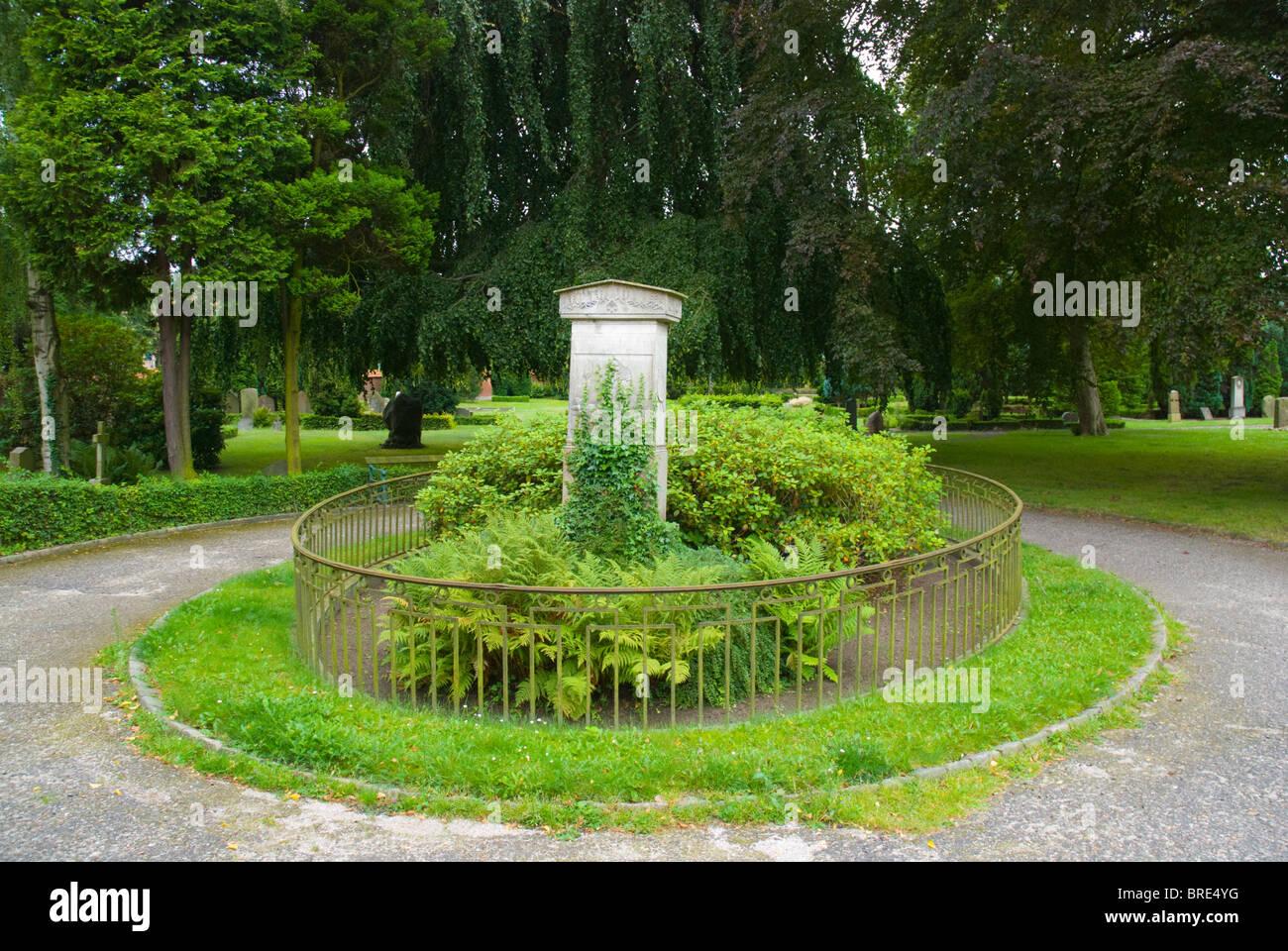 Kirkegård cemetery Helsingor north Sjaelland Denmark Europe - Stock Image