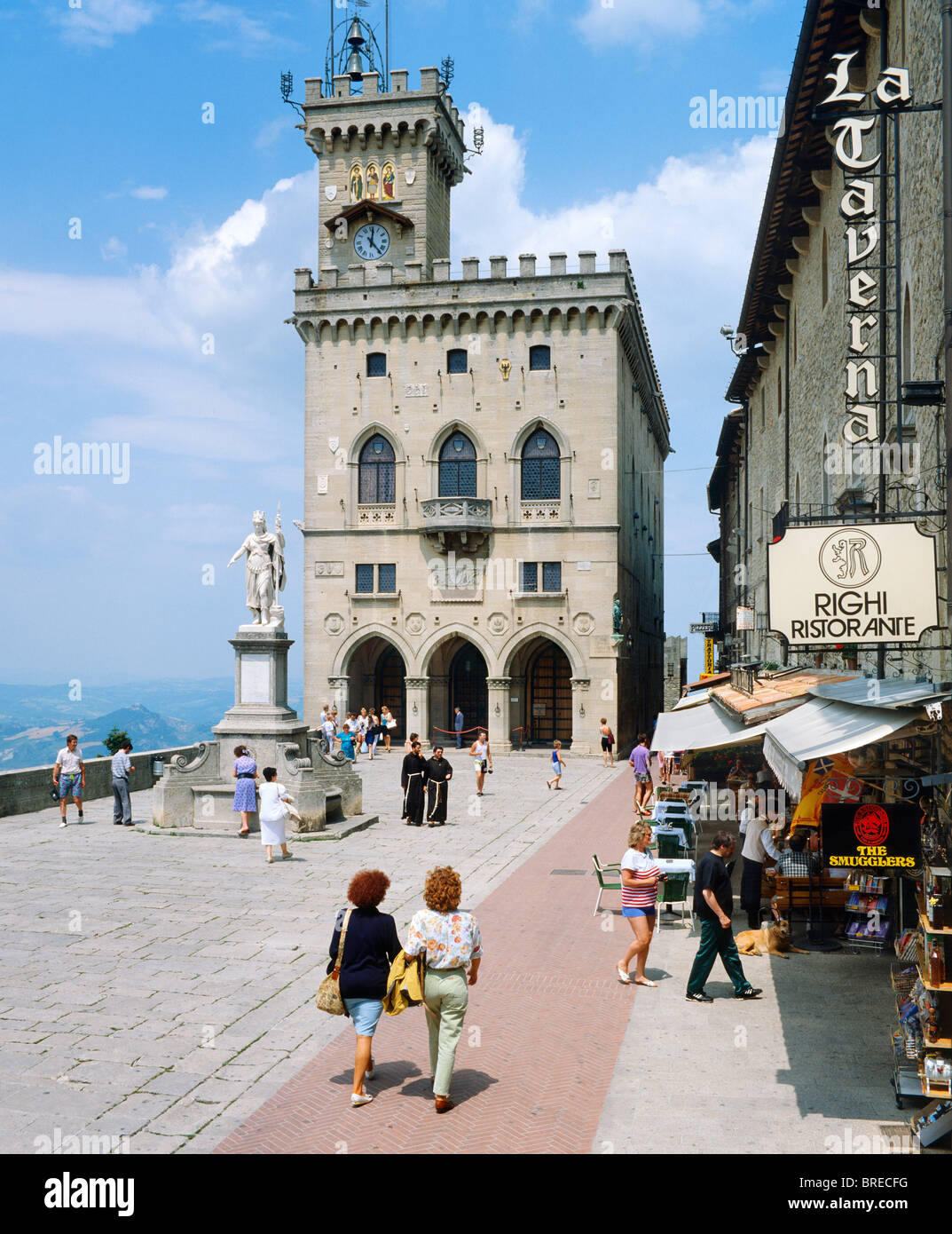 Town Square, Republic of San Marino, Italy - Stock Image