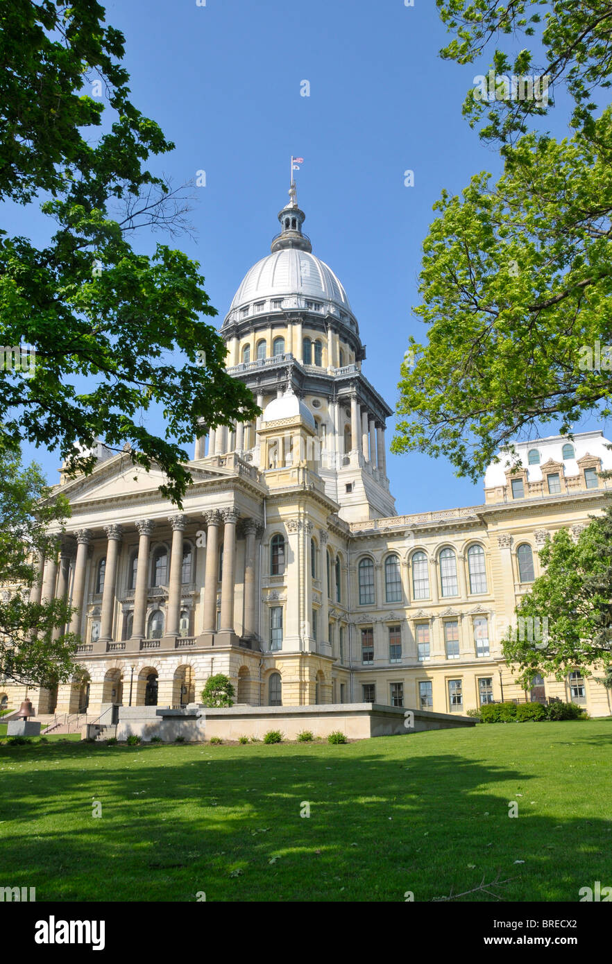 Illinois State Capitol Building Springfield Illinois - Stock Image